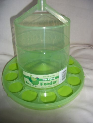 Green 3 Litre Chicken Feeder